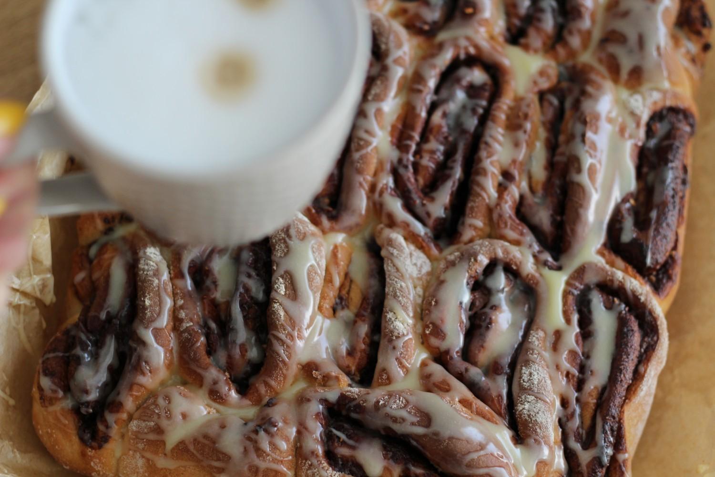 drożdżowe ślimaczki z czekoladą